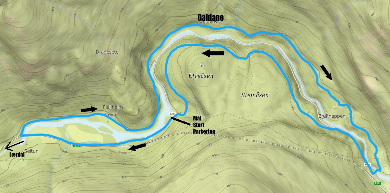 Galdane Rundt Kart